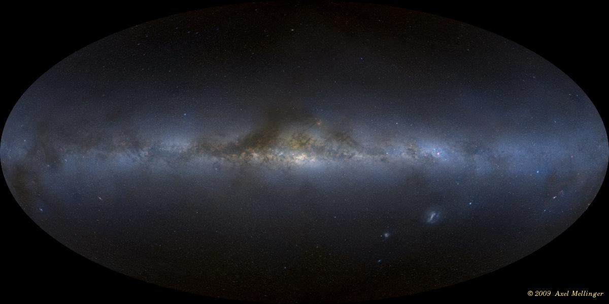 Milky Way panorama in Hammer-Aitoff projection